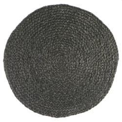 Spisebrikke jute rund Ø:35 cm mørk grå