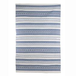 Teppe Tina i blå/offwhite 120x180 cm