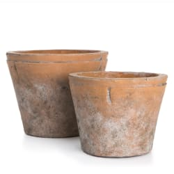 Potte s/2 terracotta konet H:12,5 og 10 cm