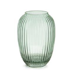 Vase glass m/riller grønn H:20