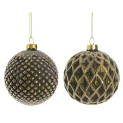 Julekule grønn 2 ass mønster Ø:9