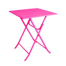 Bord Frøya 60x60 cm stål rosa