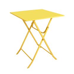 Bord Frøya 60x60 cm stål gul