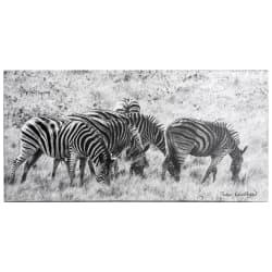 Bilde sebra canvas 70x35 cm