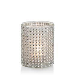 Telysglass m/strass H:10 Ø:8 cm