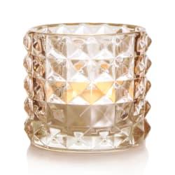 T-lysglass Diana glass brun H:8,5 cm