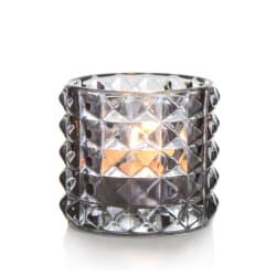 T-lysglass Diana glass grå H:6,5 cm