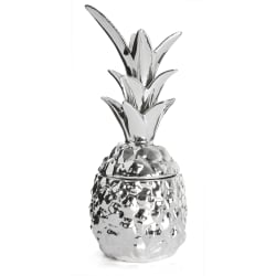 Ananas porselen sølv H:24 cm