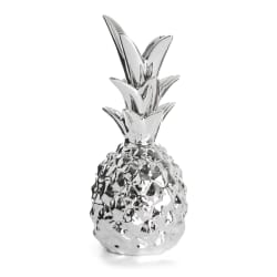 Ananas porselen sølv H:20 cm