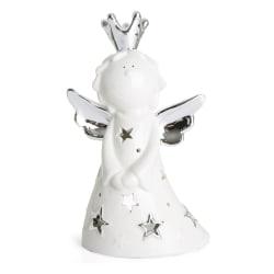 Engel porselen m/sølv vinger H:16,2 cm