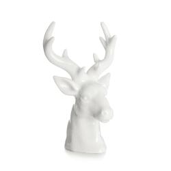 Dekorfigur reinsdyrhode hvit H:14 cm