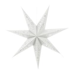 Papirstjerne 7-armet hvit 70cm