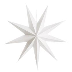 Papirstjerne 9-armet hvit 100cm