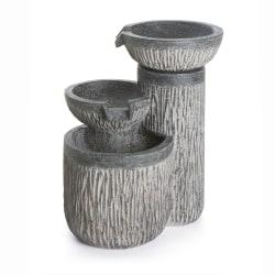 Fontene 3 vannkar grå