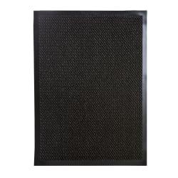 Dørmatte m/gummikant gråstripet 60x80 cm