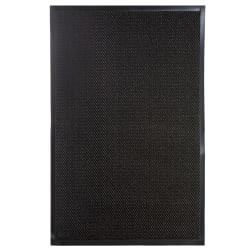 Dørmatte m/gummikant gråstripet 80x120 cm