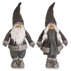 Nisse Kongsberg mann/kone 2 ass grå 90 cm