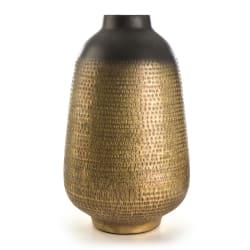 Vase Global antikk finish gull/sort 38 cm