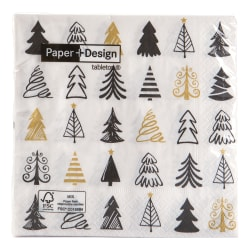 "Serviett ""Graphical trees"" 20 pk 33x33 cm"