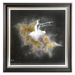 "Bilde ""The Ballerina"" m/sølvramme 81,5 x 81,5 cm"
