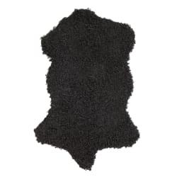 Skinn Ulla m/fuskepels sort 60x90 cm