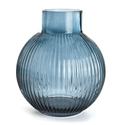 Vase Stripe m/hals blå 21 cm