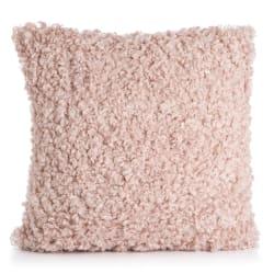 Pute Ulla m/fuskepels lys rosa 45x45 cm