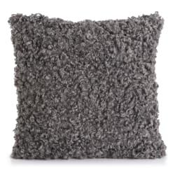 Pute Ulla m/fuskepels grå 45x45 cm