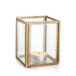 Lysglass Guri m/mønstret gullkant 10 cm
