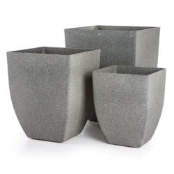 Pottesett à 3 Paris sandstone grå