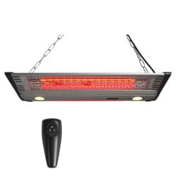 Varmelampe heng dobbel 2000W m/LED lys