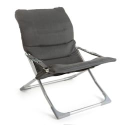 Strandstol med armlene grå