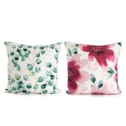 bf34a830 Pute Garden 2 ass mønster rosa/grønn 45x45 cm