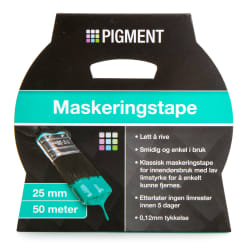 Maskeringstape 25 mm 50 m Pigment