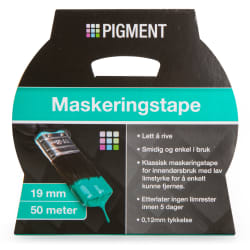 Maskeringstape 19 mm 50 m Pigment