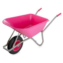 Trillebår 85 liter rosa 145x58x60