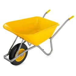 Trillebår 85 liter gul 145x58x60