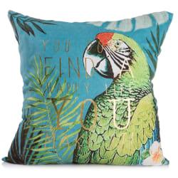Pute m/polyester fyll print papegøye 45x45
