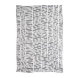 Rye plast grå m/stripemønster 60x90