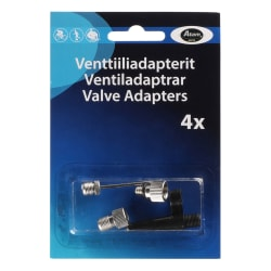 Sykkelventil adapter sett a 4