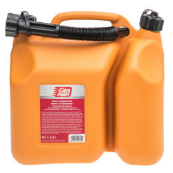 Bensinkanne kombi oransje 6L+2L