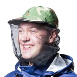 Caps med myggnett kamuflasje