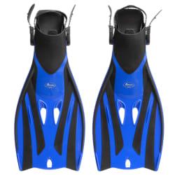 Svømmeføtter justerbare stropper blå