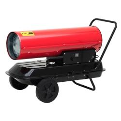 Byggvarmer diesel 30kw rød 97x50x60cm