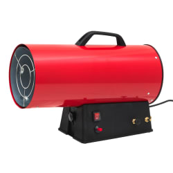 Gassvarmer rød 52x23x37cm