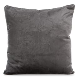 Pute Eline grå velour 45x45 cm