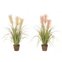 Plante gress i potte grønn hvit rosa 69cm