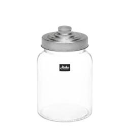 Glasskrukke med lokk glass stål 0,9L