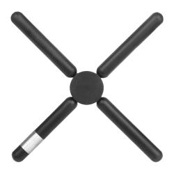 Gryteunderlag i silikon sammenlegbar sort 22,5x22,5cm