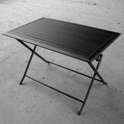 Bord Stryn 74x115 cm aluminium sort